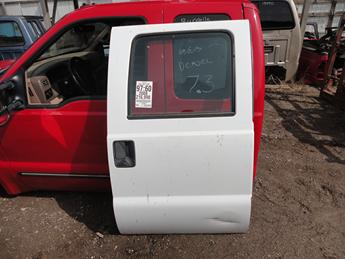 2008 2009 2010 2011 2012 2013 2014 2015 2016 FORD SUPER DUTY RIGHT REAR CREW CAB DOOR. ONE BIG DENT/CREASE ON LOWER RIGHT CORNER. #13797