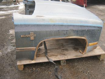 1973 1974 1975 1976 1977 1978 1979 1980 1981 1982 1983 1984 1985 1986 1987 Chevrolet  GMC front clip assembly, fair condition, normal dents & scratches, grille is broken.  Reference inventory #10758 when inquiring