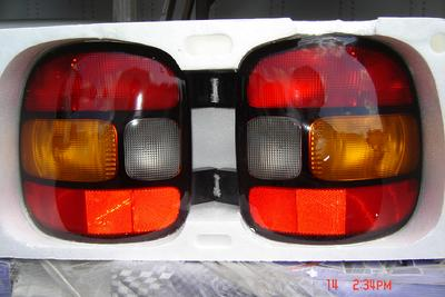 These 1999 - 2003 Chevrolet/GMC Stepside Tail lights are new OEM take offs. $60 each, $120 pair.